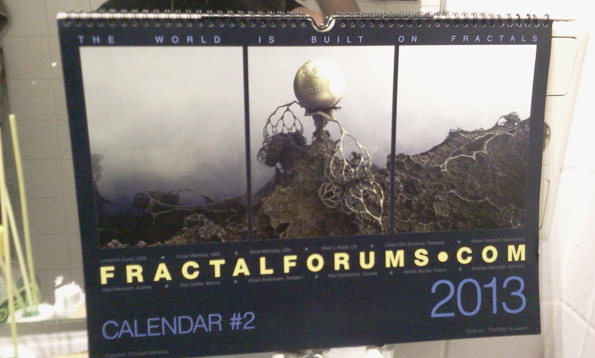 "fractalforums.com Calendar #2 2013 -""the world is built on fractals"""